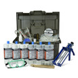 Polyurethane Foam Foundation Crack Repair Kit 30 ft. w/ Epoxy Paste Surface Sealer