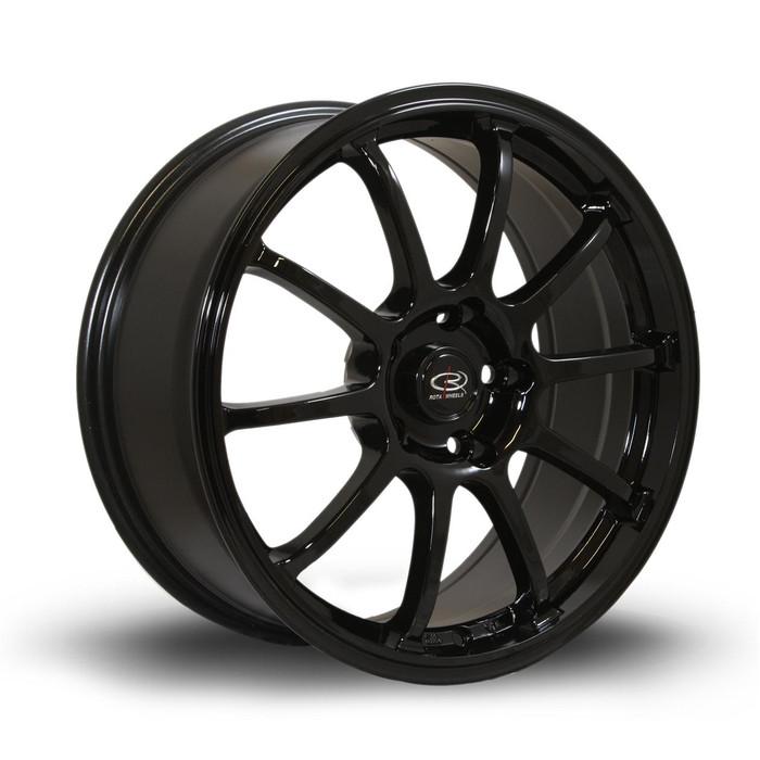 Rota Force 17x7.5 ET45 5x114 Black