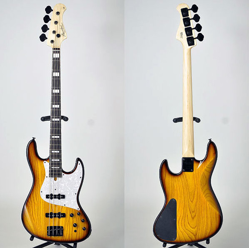 Bacchus Craft Japan Series - STD-JB ASH5 With Aguilar Preamp -  4 String Active Bass - Sunburst