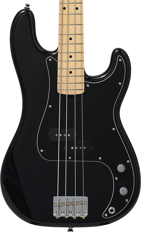 Bacchus Craft Japan Series - BPB-100EX - Limited Edition P-Bass - Black with Maple Fingerboard