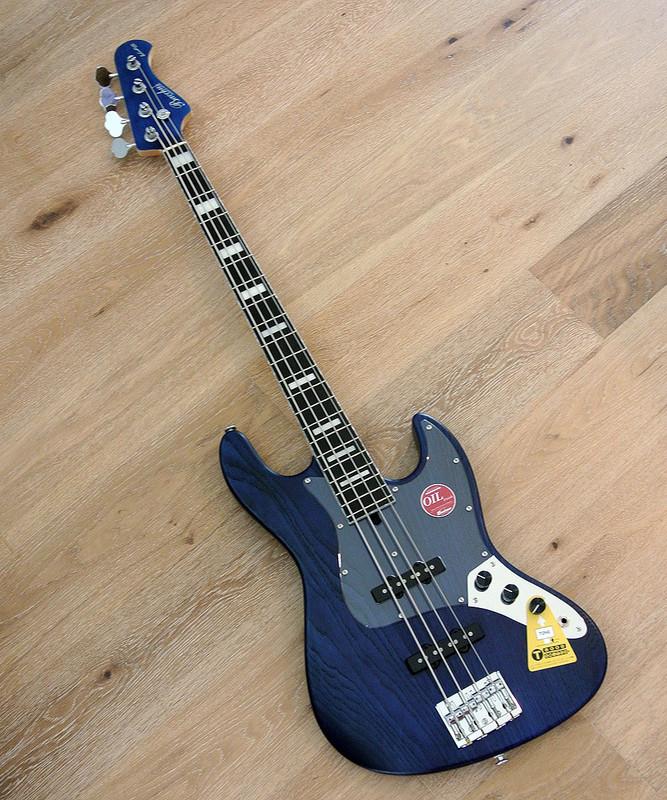 Bacchus Handmade Japan Series - WOODLINE DX4/E-4 String Bass In Blue Oil Finish