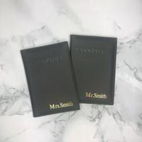 Mr & Mrs Personalised Passport Covers