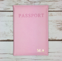 Personalised Pink Passport Cover