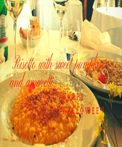 Risotto with sweet pumpkin and Amaretti Biscuits