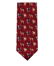 "BG ""Dogs"" Novelty Tie NV2325-BUR"