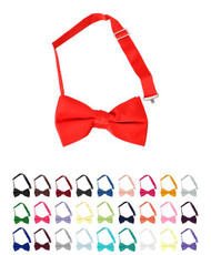BG Boy's Solid Banded Bow Ties
