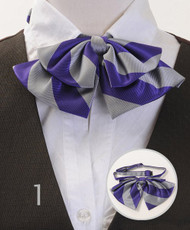 BG Lady's College Stripe Banded Bow Ties