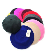 Ladies Solid Colored French Wool Beret