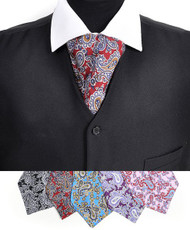 BG Fancy Paisley Pattern Silk Printed Ascot