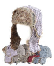 BG Vintage Pattern Fur Trapper Aviator Hat