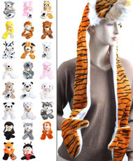 BG 'Hat-imals' Plush Animal Winter Hats with Paws (Collection 4)