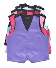 BG Boys' Poly Satin Solid Color Vest