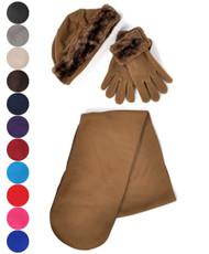 Women's Warm Polyester Fleece Winter Set