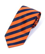 BG College Woven Orange & Navy Tie