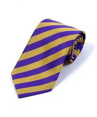 BG College Woven Purple & Gold Tie
