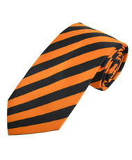 BG College Woven Orange & Black Tie