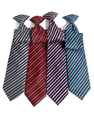 Stripe City Microfiber Poly Woven Clip On Tie
