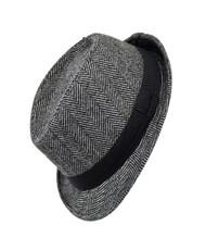 Boy's Herringbone Fedora Hat