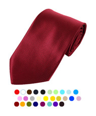 Men's Squared Imprint Solid Tie