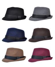 Men's All Season Fashion Wear Fedora Hat  (H10334)