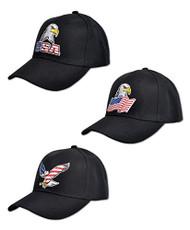USA American Eagle and Flag Embroidered Baseball Cap