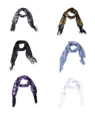 Fashion Women Peacock Embroidery Sequins Scarf