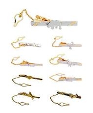 Men's Fashion Gold & Silver Tone Animal Collection Tie Bar