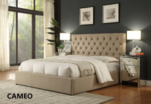 CAMEO QUEEN BED FRAME- CHARCOAL OR LINEN