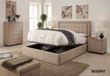 REGENT QUEEN BED FRAME - CHARCOAL OR LINEN