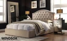 WINDSOR KING BED FRAME-LINEN OR CHARCOAL