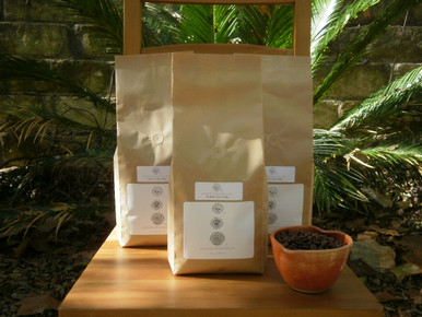 6 lb. 100% Jamaica Blue Mountain Coffee in three biotre bags - the world's finest coffee in eco friendly packs.