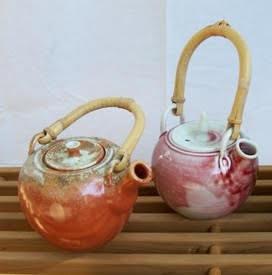 handmade pottery tea pots