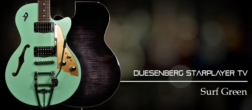Duesenberg Starplayer TV in Surf Green with Hard Case