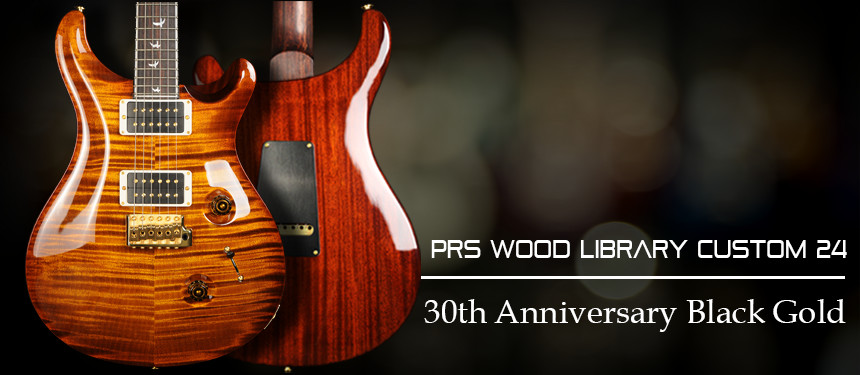 PRS Wood Library 30th Anniversary Custom 24 with Rosewood Neck, Black Gold