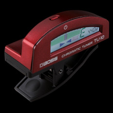 Boss TU-10 Clip On Chromatic Tuner in Red
