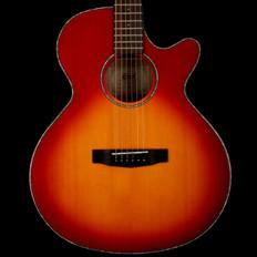Cort SFXESSB Electro Acoustic Guitar with Venetian Cutaway in Cherry Sunburst