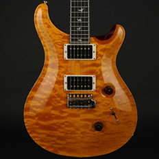 PRS Wood Library Custom 24 30th Anniversary 10-Top with Birdseye Maple Neck, 85/15's in Faded Vintage Yellow #217832