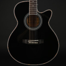 Freshman FA1ABK Maple Ridge Folk Cutaway Electro Acoustic in Black