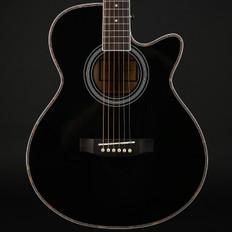 Freshman FA1ABK Maple Ridge Folk Cutaway Electro Acoustic in Black