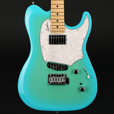 Godin Session Custom 59 in Coral Blue HG Limited Edition, Maple Fretboard with Gigbag