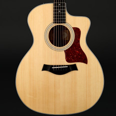 Taylor 214ce-QM DLX Deluxe Quilt Maple Special Edition Auditorium Cutaway, ES2 with Case