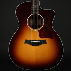 Taylor 214ce-SB DLX Deluxe Grand Auditorium Cutaway in Sunburst, ES2 with Case