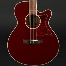 Tanglewood TW4BR Winterleaf Super Folk Cutaway Electro Acoustic in Burgundy Red Gloss