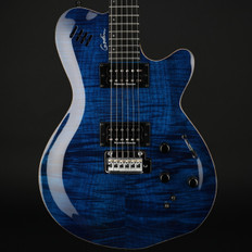 Godin LGXT Trans Blue Flame AA with Bag