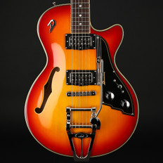 Duesenberg Starplayer TV Rebound in Fireburst with Case