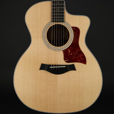 Taylor 214ce Koa/Sitka Grand Auditorium Cutaway, ES2 with Hard Bag (2017 Model)