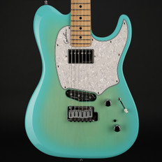 Godin Session Custom 59 in Coral Blue HG Limited Edition, Maple Fretboard with Gigbag (B-Stock)