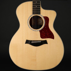 Taylor 214ce-FS DLX Figured Sapele Special Edition Auditorium Cutaway, ES2 with Case