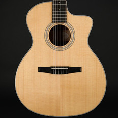 Taylor 214ce-N Nylon Classical Grand Auditorium Cutaway, ES-N (2017) with Hard Bag