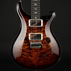 PRS Custom 24 Ltd in Black Gold Burst Quilt with Pattern Thin Neck, 58/15 Pickups #241842